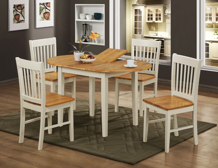 The Stacy White Extending Dining Table With Four Chairs Is An Extendable Which Made