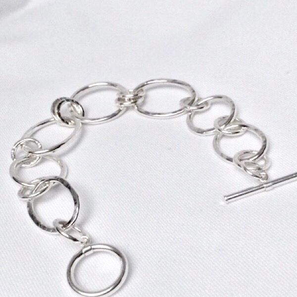Small Sterling 925 Silver Link Toggle Clasp Ring /& T Bar For Bracelets Necklaces