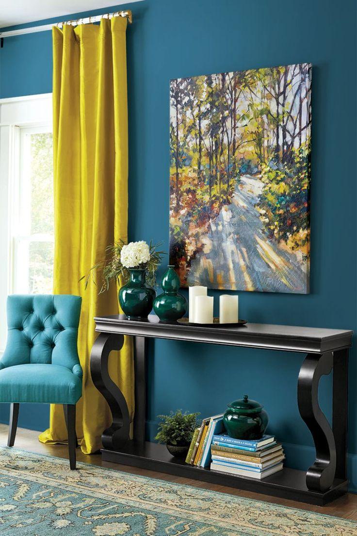 Salon Gris Et Bleu Canard rideau bleu canard et jaune - novocom.top