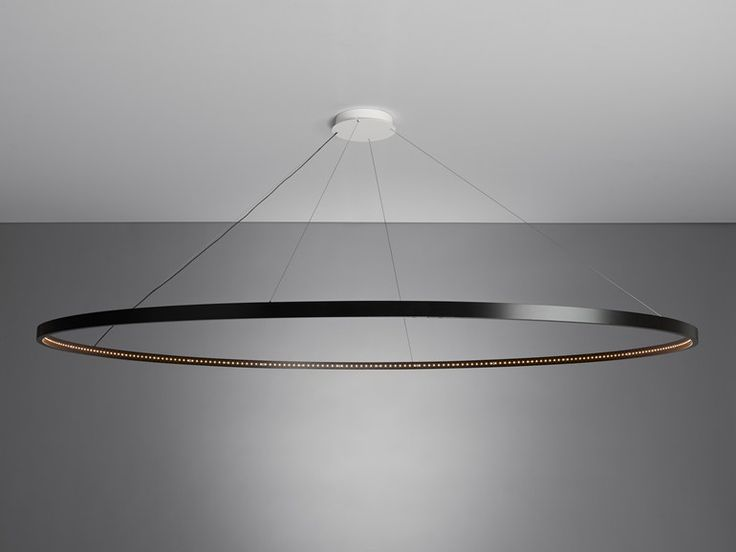 Suspension LED en acier pour éclairage direct/indirect OMEGA 200 by Le Deun Luminaires