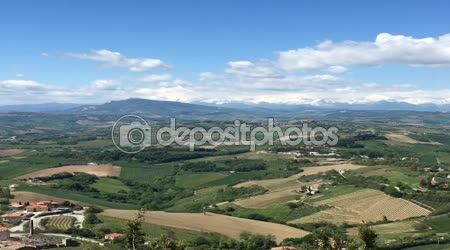 Hilly landscape from Ripatransone, Piceno county, Italy — Stock Video © ciaobucarest #107878146