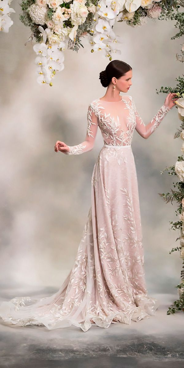 Anna Georgina Wedding Dresses - The Inca Lily 2018 Bridal Collection ❤ anna georgina wedding dresses lace straight illusion neck with long sleeves style louise ❤ Full gallery: https://weddingdressesguide.com/anna-georgina-wedding-dresses/