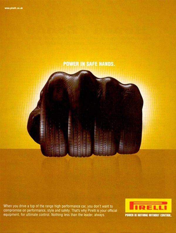 """Potencia en manos seguras"" - Pirelli"