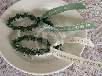 """Tischdekoration """"Fisch mit Namensband"""" für Kommunion   Design geschützt durch Geschmacksmuster nach nGGM"""