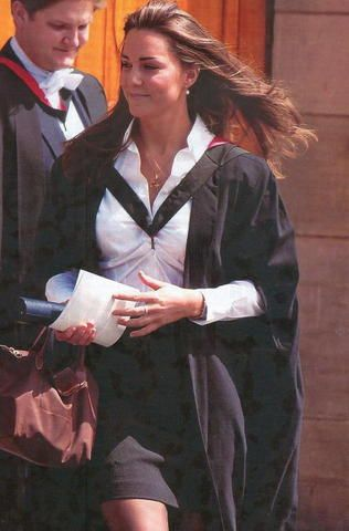 Kate Middleton at her graduation from Saint Andrews University