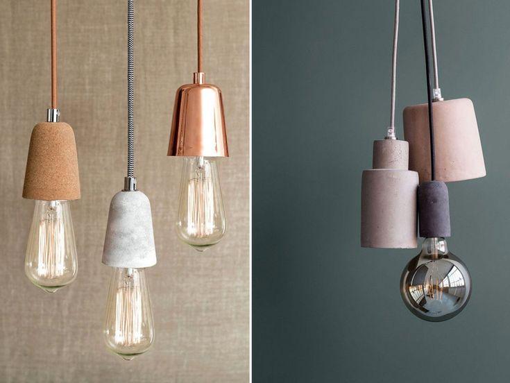d coration tendance luminaire douille pour suspension lumineuse en ciment li ge et marbre. Black Bedroom Furniture Sets. Home Design Ideas