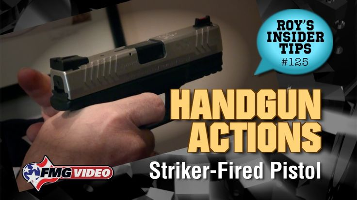 All About Handgun Actions: Striker-Fired - Handgun Actions Part 4 of 6: What is a Striker-Fired Handgun? American Handgunner editor Roy Huntington explains using a Springfield XDM 3.8 to illustrate how a Striker-Fired handgun operates. Click here for more tips: http://www.americanhandgunner.com/all-about-handgun-actions-striker-fired/