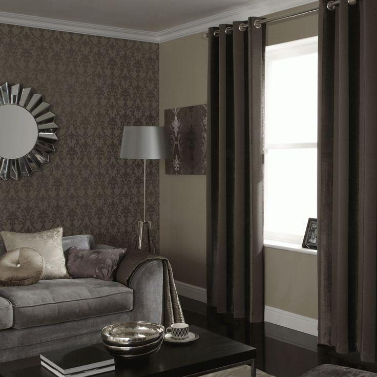ILiv Palladio Mocha Boheme Stripe Eyelet Curtains