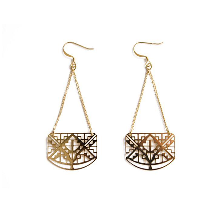 Boucles d'oreilles Klimt - Chic Alors!