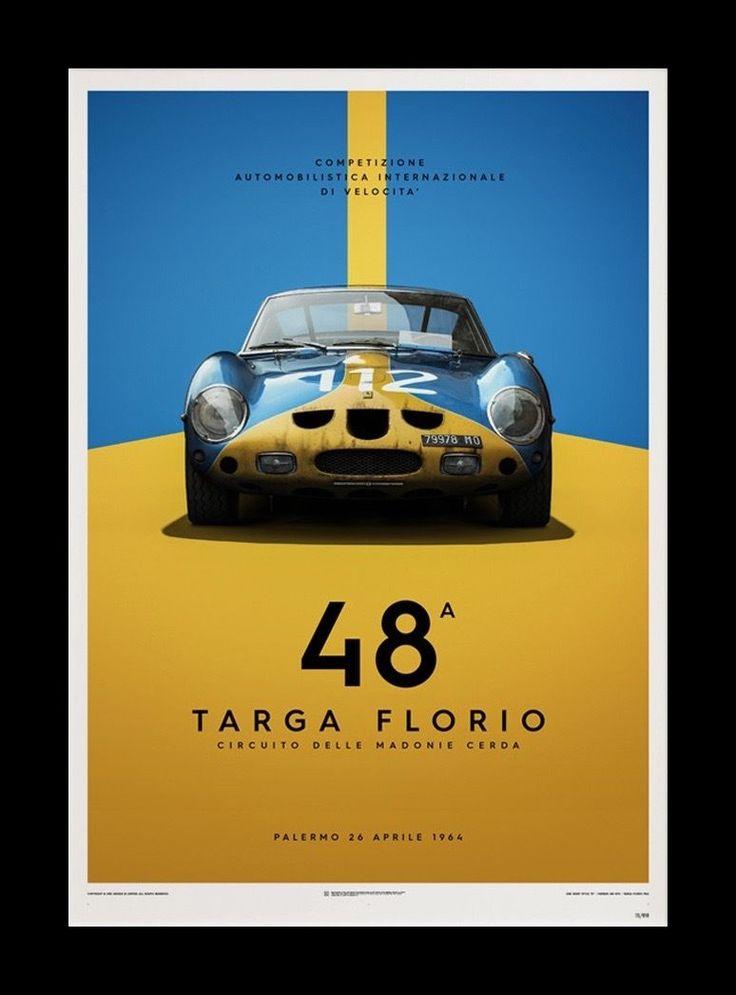 "FERRARI 250 GTO 1964 Targa Florio 20x28"" Fine Art Print Poster S/N Ltd Ed 1000"