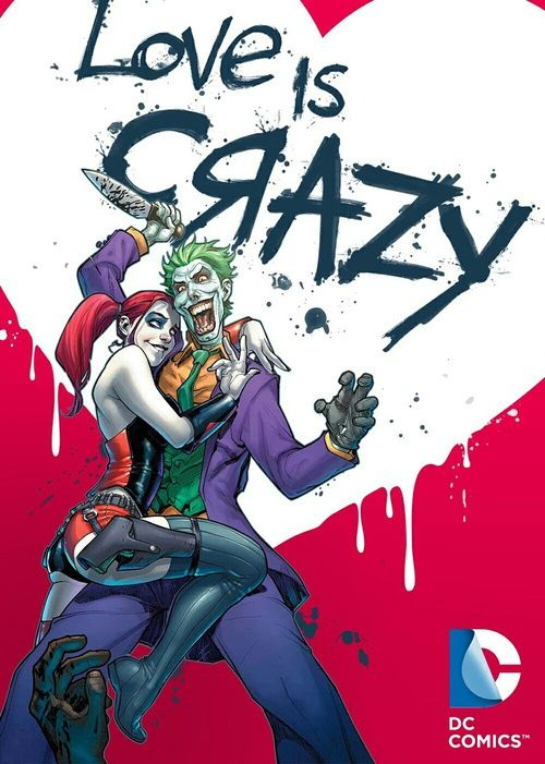 the joker, mad love, and harley quinn image