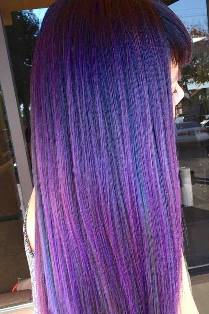about Subtle Purple Hair on Pinterest - Violet hair, Dark plum hair ...