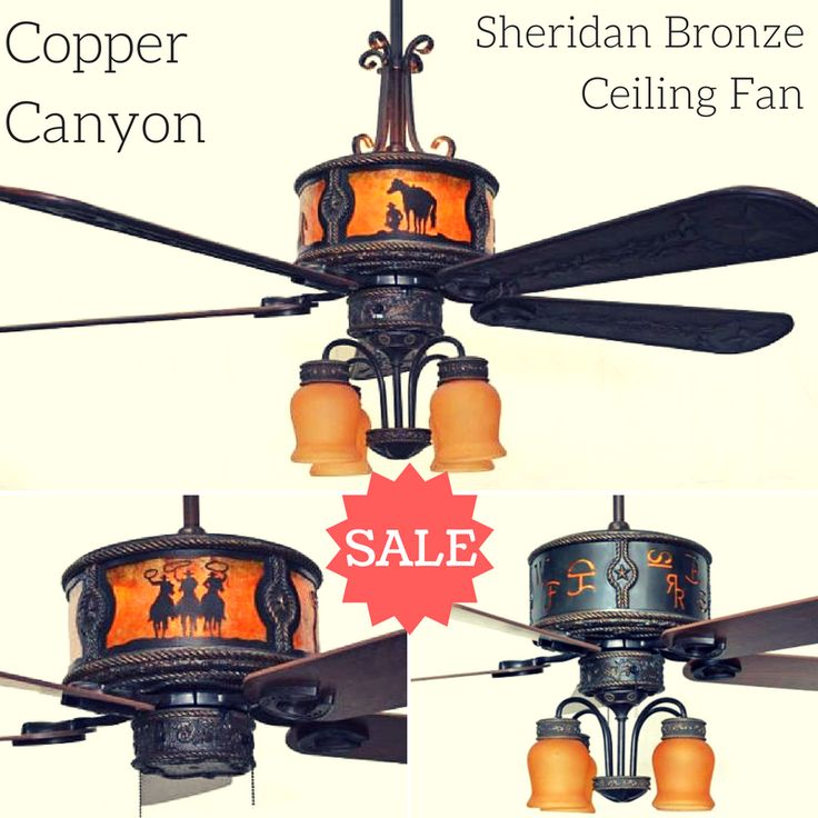 Copper Canyon Sheridan Bronze Ceiling Fan on SALE for a limited time. #westernlighting