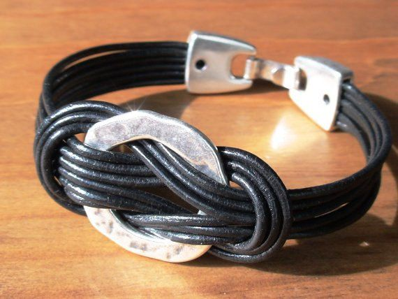 bracelets, rope bracelet, black leather bracelet, bracelets for him, unique gifts, gifts for him