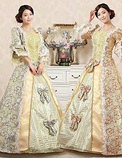 vestito dalla principessa steampunk®top stampa vendita del vestito da partito vittoriano a tema lungo abiti da ballo film
