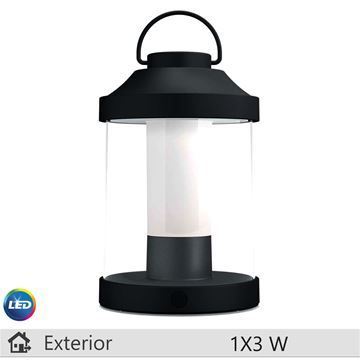 Lampa LED portabila Philips Abelia negru 1x3W http://www.etbm.ro/iluminat-decorativ-exterior