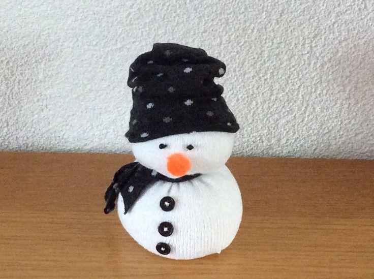 Snowman van 2 sokken