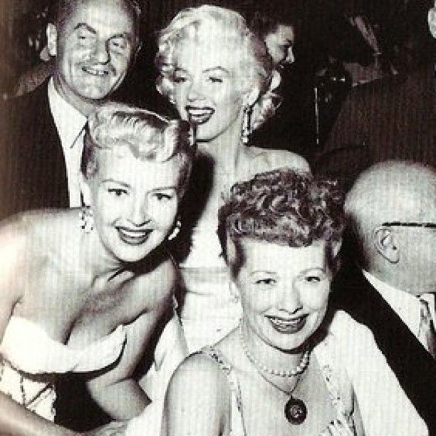 Marilyn photographed with Betty Grable and Lucille Ball at a 1953 movie premiere. - @welovemarilyn | Webstagram