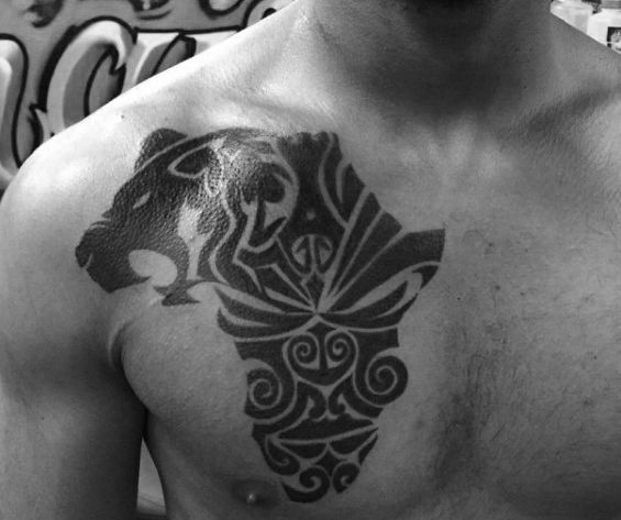 Tribal Tattoo Ideas For Shoulder And Chest Tattoos For Women Africa Tattoos African Tattoo Tattoo Designs Men