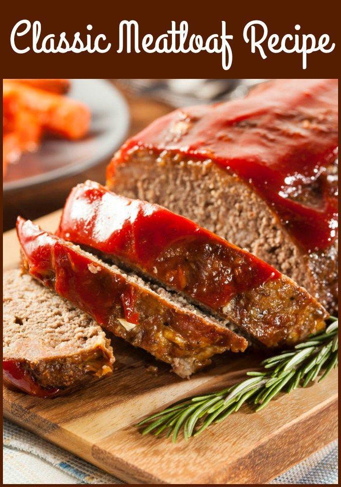 Classic Meatloaf Recipe Good Meatloaf Recipe Classic Meatloaf Recipe How To Cook Meatloaf