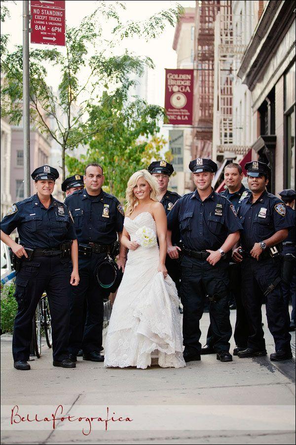 Police Wedding Portraits