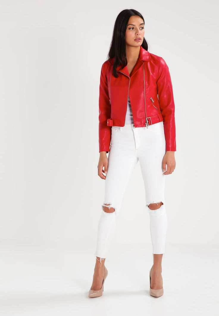 ¡Cómpralo ya!. New Look Chaqueta de cuero sintético red. New Look Chaqueta de cuero sintético red Ofertas   | Material exterior: 89% poliéster, 7% algodón, 4% viscosa | Ofertas ¡Haz tu pedido   y disfruta de gastos de enví-o gratuitos! , chaquetadecuero, polipiel, biker, ante, antelina, chupa, decuero, leather, suede, suedette, fauxleather, chaquetadecuero, lederjacke, chaquetadecuero, vesteencuir, giaccaincuio, piel. Chaqueta de cuero  de mujer color rojo de New look.