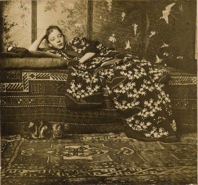 George Hendrik Breitner, Girl in kimono (Geesje Kwak), 1893