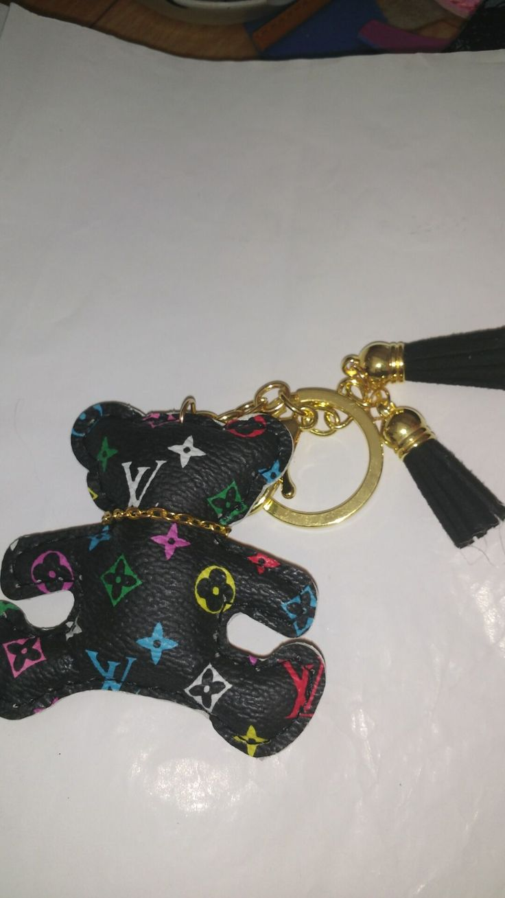 LV Leather Bear keychains