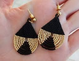 Resultado de imagen para golden earrings with beads