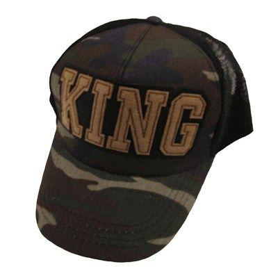 Erkek King Kamuflaj Cap Şapka