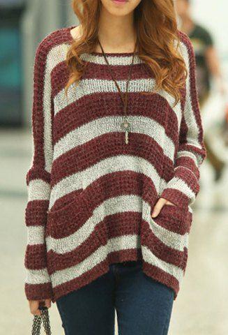 Stylish Scoop Neck Long Sleeves Geometric Printed Irregular Hem T-Shirt For WomenT-Shirts | RoseGal.com