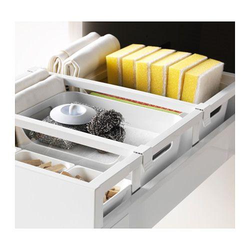 METOD / MAXIMERA Høyskap med rengjøringsinnredning - hvit, Veddinge hvit - IKEA