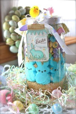 Michelle Wooderson: Mish Mashed, Easter Card, Gifts Ideas, Peeps Show, In A Jars, Easter Spr, Easter Gift, Cookies Jars, Easter Ideas