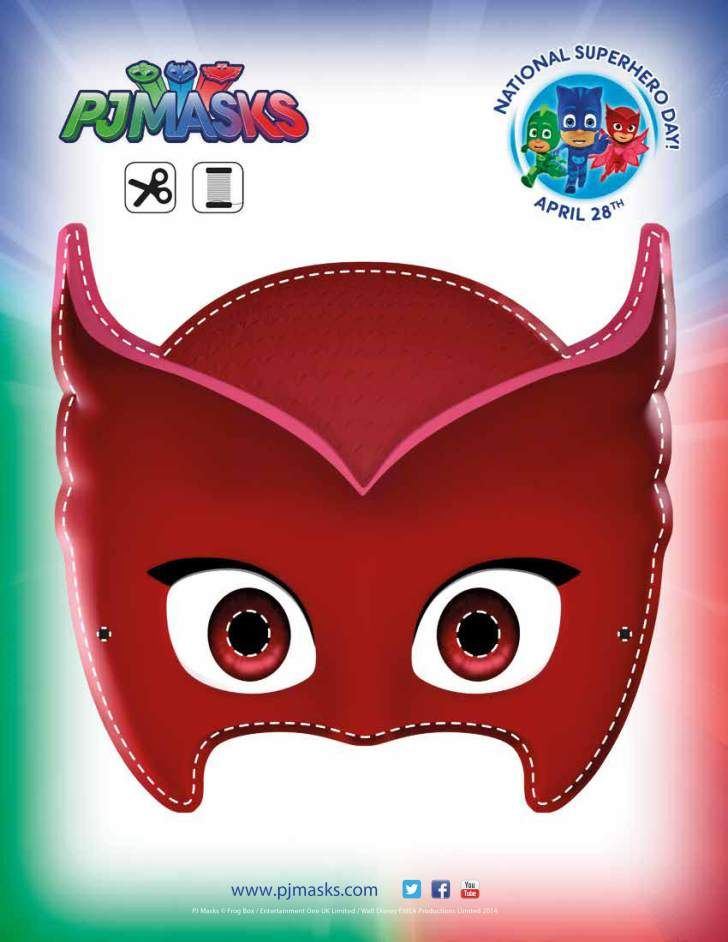 Declarative image in pj masks mask printable
