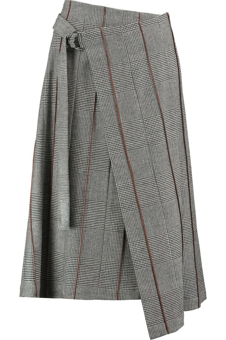 Shop on-sale Brunello Cucinelli Wrap-effect houndstooth wool and cashmere-blend midi skirt. Browse other discount designer Skirts & more on The Most Fashionable Fashion Outlet, THE OUTNET.COM
