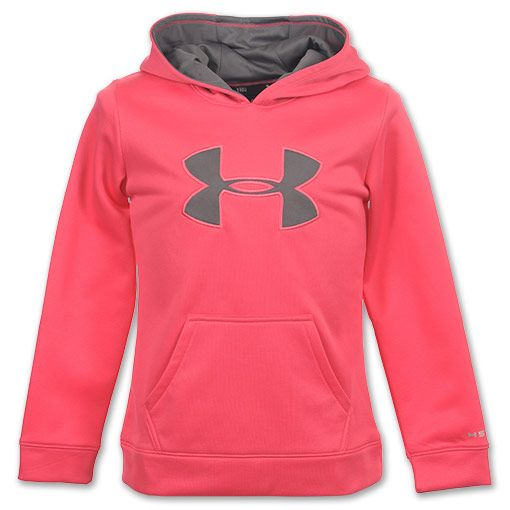 i kinda want this Under Armour Big Logo Girl's Hoodie