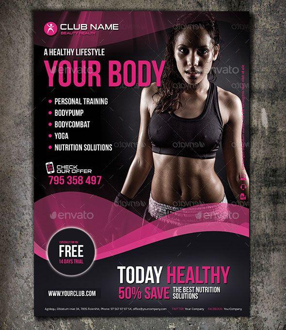 38 best Flyer Designs images on Pinterest Fitness flyer, Flyer - fitness templates free