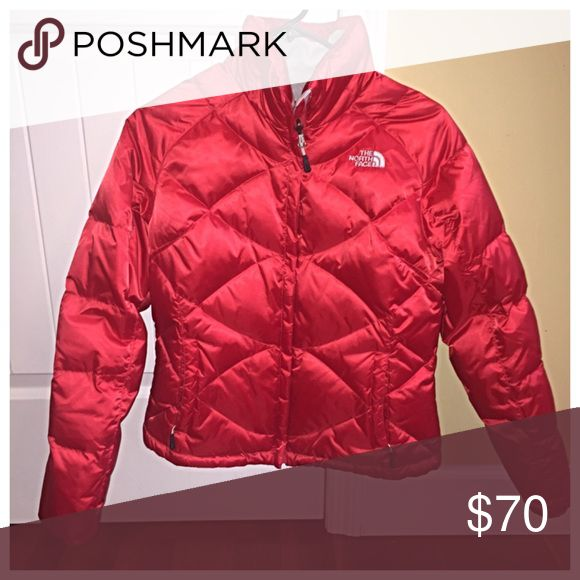 Women's S North Face 500 Down Jacket This jacket is in PERFECT condition.  I was only able to wear it twice.... It's a beautiful red color. North Face Jackets & Coats Puffers
