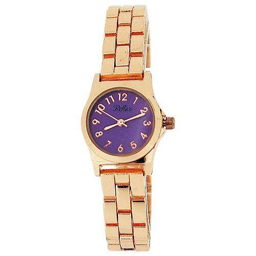 Reflex Ladies Analogue Purple Dial & Rose Tone Metal Bracelet Strap Watch LB114