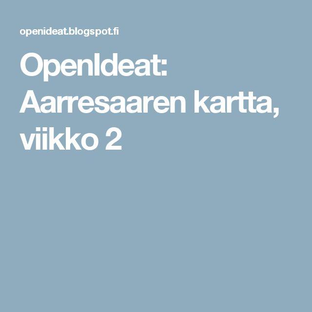 OpenIdeat: Aarresaaren kartta, viikko 2