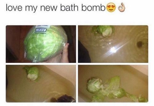 When you cant afford a bathbomb but you want to be cool like the other people....