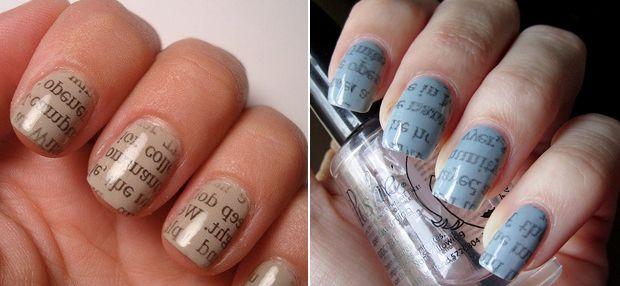 Unhas de jornal: como fazer a nail art - Dicas - Beleza GNT