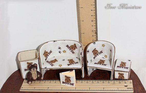 Miniature children's room set with practical toy от IreeMiniature