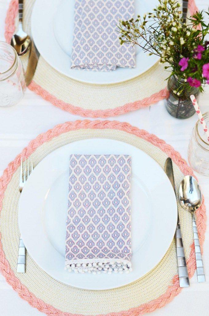 Diy Upcycled Pom Pom Cloth Napkin From Diy Entertaining Idea Home Decor With Jo