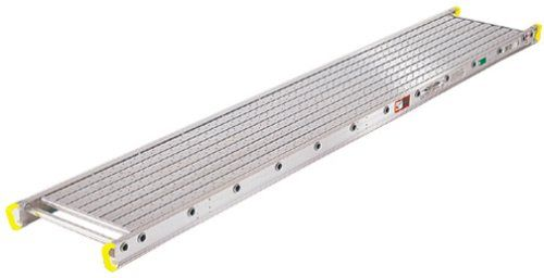Werner 2416 500-Pound Duty Rating Two-Person Aluminum Scaffold Plank, 14-Inch Wide by 16-Feet Long
