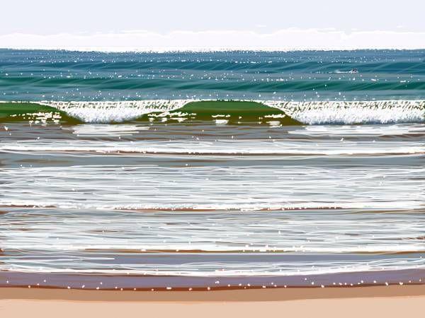 The Wave 55 x 41cm, iPad Art, Framed, $450