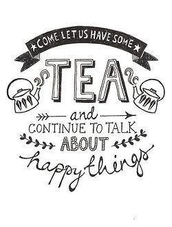 Tea, confort, partage.