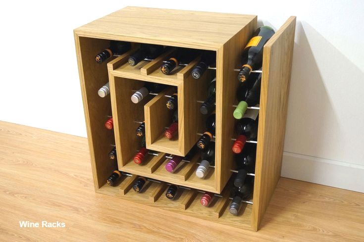 14 Diy Wine Racks Made Of Wood Wine Rack Design Wine Rack Wine