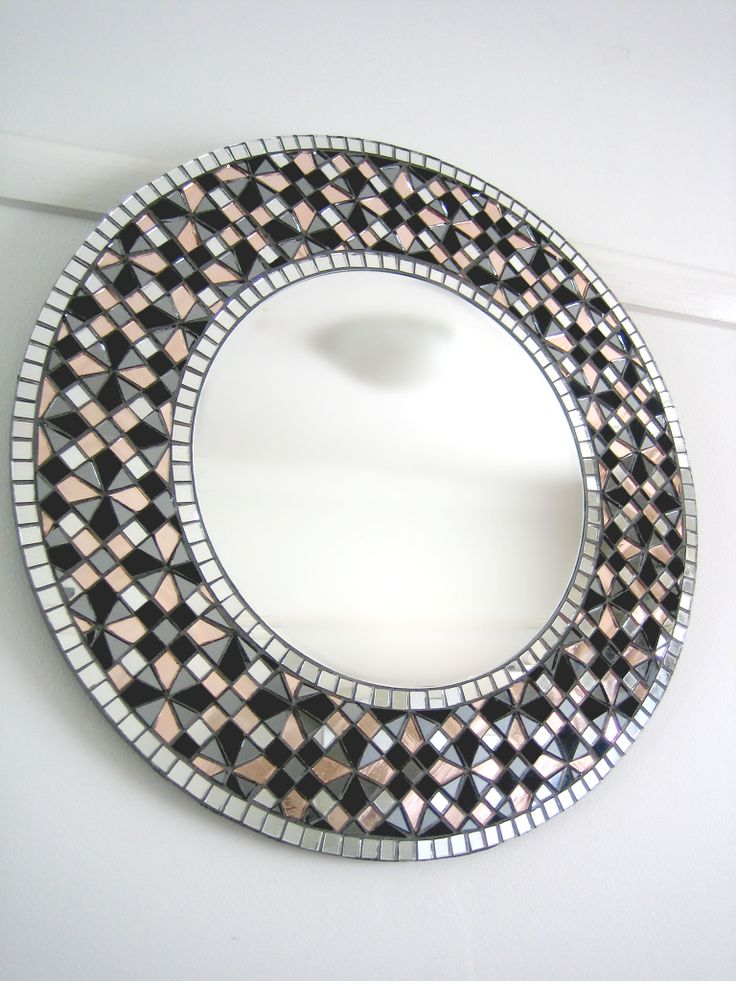 517 best mosaic mirrors images on pinterest mosaic for Mosaic mirror