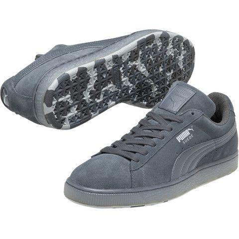 all grey puma suede